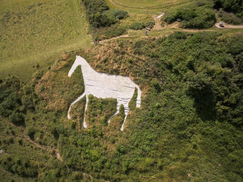 Littlington White Horse, Frog Firle