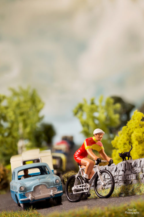 Diorama Cyclist Traffic
